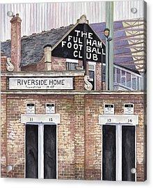 Craven Cottage Acrylic Print by Scott Nelson