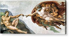 Creation Of Adam Acrylic Print