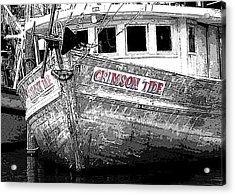 Crimson Tide Acrylic Print by Michael Thomas