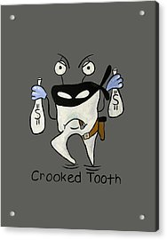 Crooked Tooth Acrylic Print by Anthony Falbo