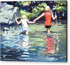 Crossing Acrylic Print by Bob Duncan