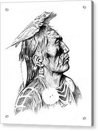 Crow Medicine Man Acrylic Print