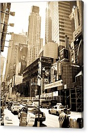 Crown Plaza New York City Acrylic Print