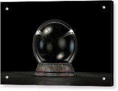 Crystal Ball Dark Acrylic Print by Allan Swart