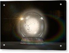 Crystal Ball Glowing Acrylic Print by Allan Swart