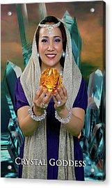Crystal Goddess Acrylic Print