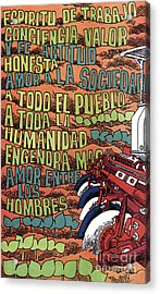 Cuban Poster, 1960s Acrylic Print by Granger