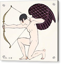 Cupid Acrylic Print by Georges Barbier