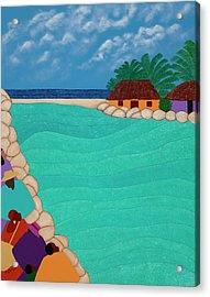 Curacao Lagoon Acrylic Print