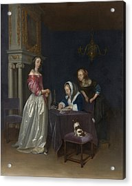 Curiosity Acrylic Print by Gerard ter Borch