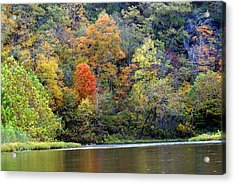Current River Fall Acrylic Print by Marty Koch