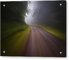 Curve In The Road Blur Acrylic Print by Ed Book