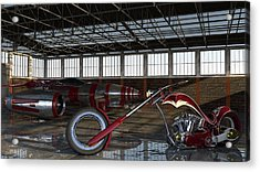 Acrylic Print featuring the photograph Custom Chopper  by Louis Ferreira