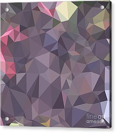 Cyber Grape Purple Abstract Low Polygon Background Acrylic Print