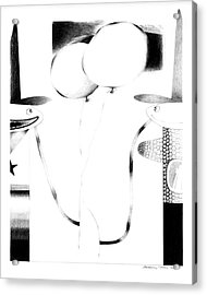 Cycloptic Couple Acrylic Print by Tony Paine