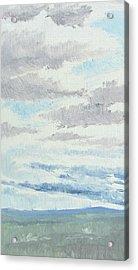 Dagrar Over Salenfjallen- Shifting Daylight Over Distant Horizon 9 Of 10_0029 Acrylic Print