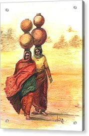 Daily Desert Dance  Acrylic Print