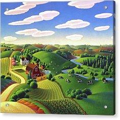Dairy Farm  Acrylic Print by Robin Moline