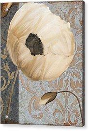 Damask Poppy Acrylic Print by Mindy Sommers