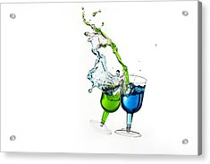 Dancing Drinks Acrylic Print