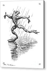 Dancing In The Rain, Conceptual Artwork Acrylic Print by Bill Sanderson
