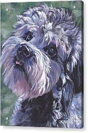 Acrylic Print featuring the painting Dandie Dinmont Terrier by Lee Ann Shepard