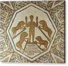 Daniel In The Lions' Den Acrylic Print by Roman School