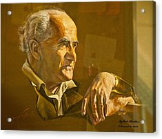 David Ben Gurion - Israel First Pm Acrylic Print by Itzhak Richter