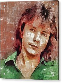 David Cassidy, Singer And Actor Acrylic Print by Mary Bassett
