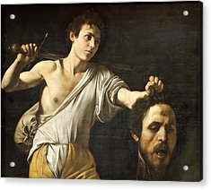 David With The Head Of Goliath Acrylic Print