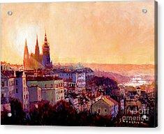 Sundown Over Prague Acrylic Print
