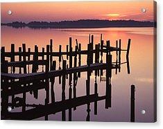 Dawn On The Bay Acrylic Print by Eric Foltz