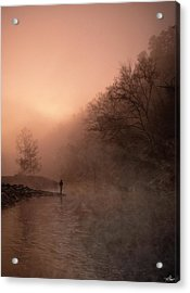 Dawn On The Lower Mountain Fork River Acrylic Print