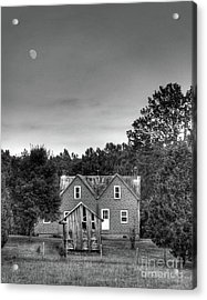 Day Moon Acrylic Print by Pete Hellmann