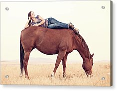 Daydreaming On A Horse Acrylic Print by Debi Bishop