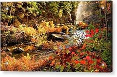 Dead River Falls  Marquette Michigan Acrylic Print