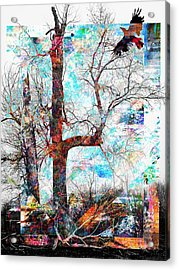 Dead Tree And Crow Acrylic Print
