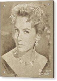 Deborah Kerr, Vintage Actress. Digital Art By John Springfield Acrylic Print