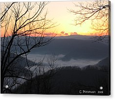 December Sunrise Acrylic Print by Carolyn Postelwait