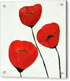 Acrylic Print featuring the painting Decorative Poppies Acrylic Painting C62017 by Mas Art Studio