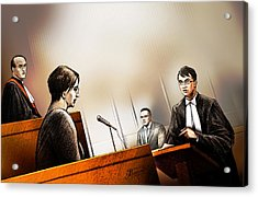 Defence Attorney Dirk Derstine At The Tori Stafford Murder Trial In London Acrylic Print