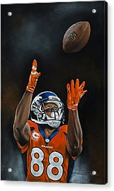 Demaryius Thomas Acrylic Print by Don Medina