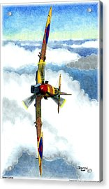 Desert Spitfire Acrylic Print by Trenton Hill
