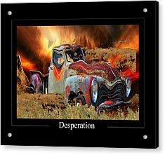 Despiration Acrylic Print by Calum Faeorin-Cruich