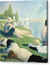 Detail From Bathers At Asnieres Acrylic Print
