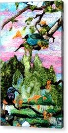 Detail Of Spring Acrylic Print by Kimberly Simon