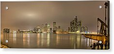 Detroit At Night Acrylic Print by Andreas Freund