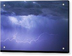 Dia Country Farm Field Lightning Striking 85 Acrylic Print