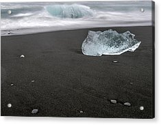 Diamonds Floating In Beaches, Iceland Acrylic Print
