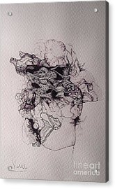 Dibujo Acrylic Print by Cesar Velasco